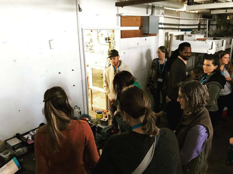 NNOCCI Study Circle participants touring a lab during the climate science day of training
